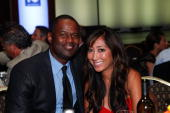 Recording artist Brian McKnight and guest attend the 10th Annual Harold Pump Foundation Gala on August 12 2010 in Century City California
