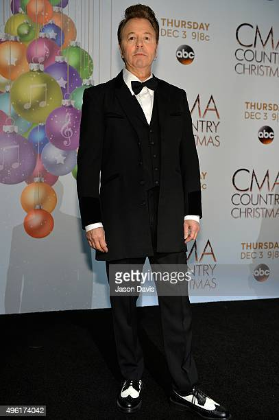 Recording Artist Brian Setzer attends the CMA 2015 Country Christmas press room on November 7 2015 in Nashville Tennessee