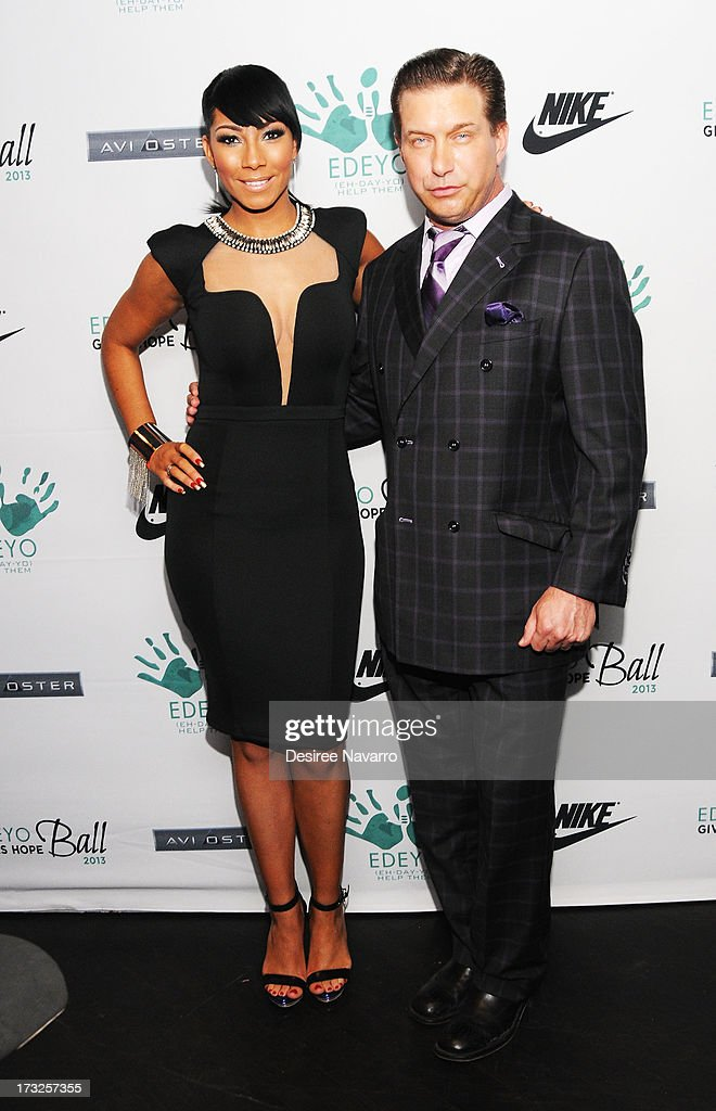 Recording artist Bridget Kelly and actor <a gi-track='captionPersonalityLinkClicked' href=/galleries/search?phrase=Stephen+Baldwin&family=editorial&specificpeople=213776 ng-click='$event.stopPropagation()'>Stephen Baldwin</a> attend the 2013 Edeyo Gives Hope Ball at Highline Ballroom on July 10, 2013 in New York City.