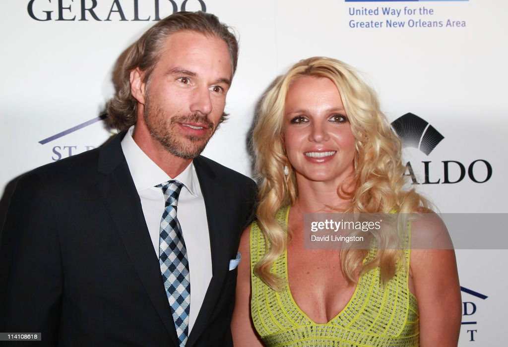 Recording artist Britney Spears (R) and agent Jason Trawick attend An Evening of 'Southern Style' presented by the St. Bernard Project & the Spears family at a private residence on May 11, 2011 in Beverly Hills, California.