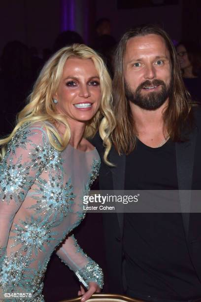 Recording artist Britney Spears and songwriter Max Martin attend PreGRAMMY Gala and Salute to Industry Icons Honoring Debra Lee at The Beverly Hilton...