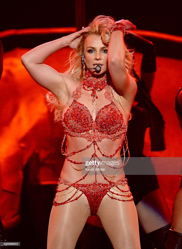 Recording artist <a gi-track='captionPersonalityLinkClicked' href=/galleries/search?phrase=Britney+Spears&family=editorial&specificpeople=156415 ng-click='$event.stopPropagation()'>Britney Spears</a> performs onstage during the 2016 Billboard Music Awards at T-Mobile Arena on May 22, 2016 in Las Vegas, Nevada.