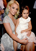 Recording artist Britney Spears with her niece attends the Teen Choice Awards 2015 at the USC Galen Center on August 16 2015 in Los Angeles California