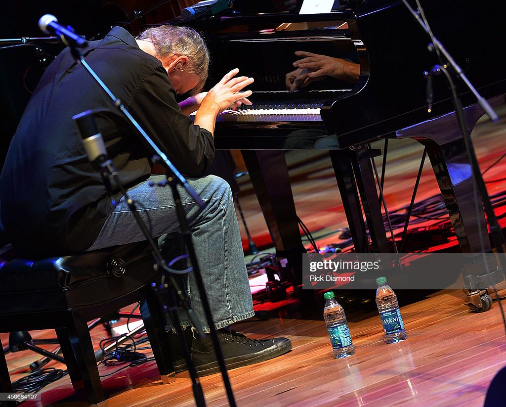 Recording Artist <a gi-track='captionPersonalityLinkClicked' href=/galleries/search?phrase=Bruce+Hornsby&family=editorial&specificpeople=534897 ng-click='$event.stopPropagation()'>Bruce Hornsby</a> along with Ricky's band Kentucky Thunder perform during Ricky Skaggs Day 2 - Bluegrass Rules at the CMA Theater on November 19, 2013 in Nashville, Tennessee. Skaggs was recently announced as the Country Music Hall of Fame and Museum's 2013 Artist-in-Residence.