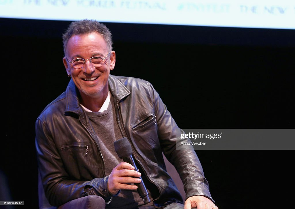 Recording artist Bruce Springsteen speaks onstage during The New Yorker Festival 2016 at Town Hall on October 7, 2016 in New York City. )