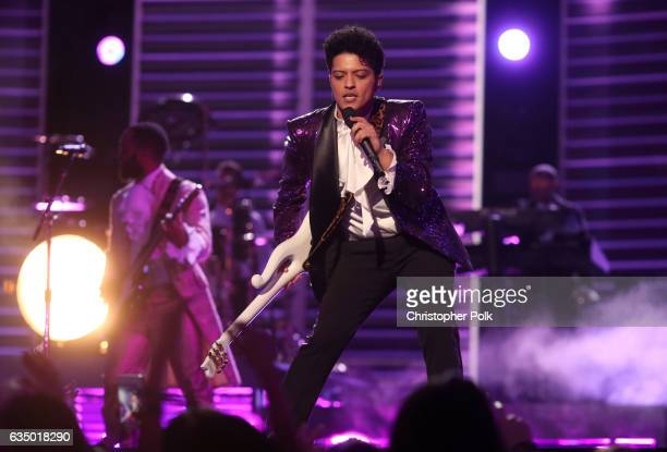 Recording artist Bruno Mars during The 59th GRAMMY Awards at STAPLES Center on February 12 2017 in Los Angeles California