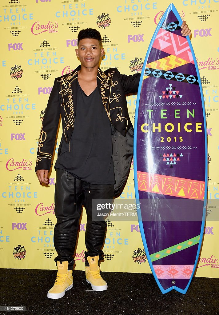 Recording artist Bryshere 'Yazz' Gray poses in the press room during the Teen Choice Awards 2015 at the USC Galen Center on August 16, 2015 in Los Angeles, California.