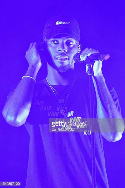 Recording artist Bryson Tiller performs onstage during the 2016 BET Experience at Staples Center on June 24 2016 in Los Angeles California