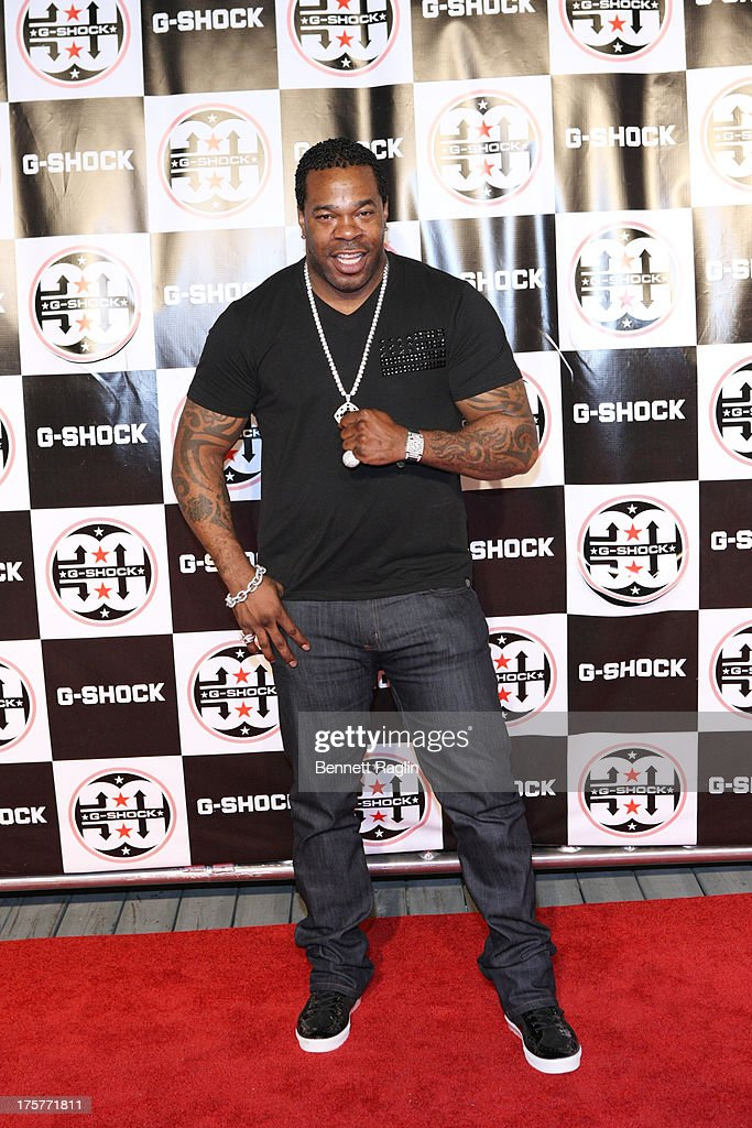 Recording artist <a gi-track='captionPersonalityLinkClicked' href=/galleries/search?phrase=Busta+Rhymes&family=editorial&specificpeople=208120 ng-click='$event.stopPropagation()'>Busta Rhymes</a> attends G-Shock - Shock The World 2013 at Basketball City - Pier 36 - South Street on August 7, 2013 in New York City.
