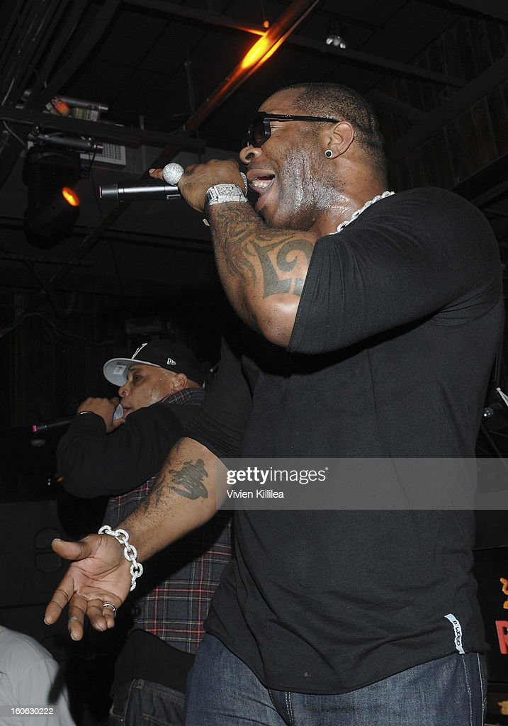 Recording artist <a gi-track='captionPersonalityLinkClicked' href=/galleries/search?phrase=Busta+Rhymes&family=editorial&specificpeople=208120 ng-click='$event.stopPropagation()'>Busta Rhymes</a> performs at Greenhouse And Talent Resources Sports Host Super Sunday NOLA After Party at Jax Brewery on February 3, 2013 in New Orleans, Louisiana.