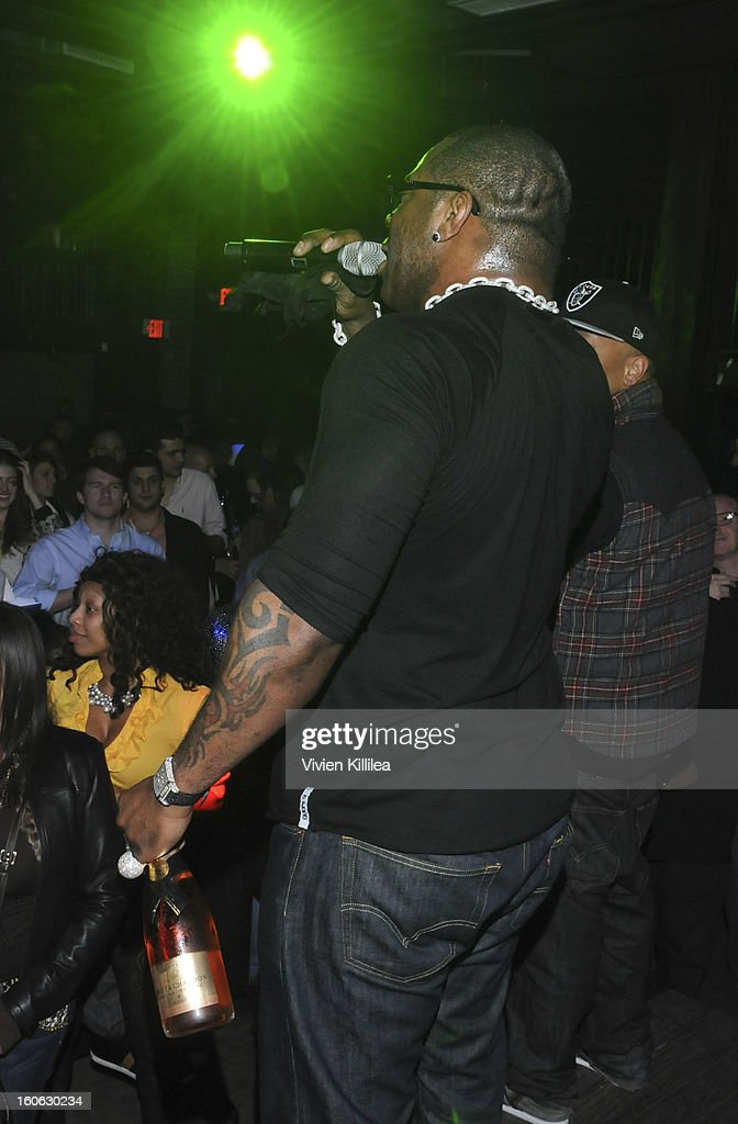Recording artist Busta Rhymes performs at Greenhouse And Talent Resources Sports Host Super Sunday NOLA After Party at Jax Brewery on February 3, 2013 in New Orleans, Louisiana.