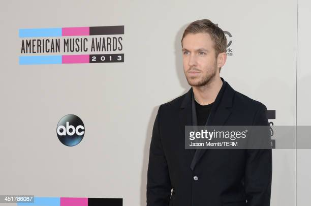 Recording artist Calvin Harris attends the 2013 American Music Awards at Nokia Theatre LA Live on November 24 2013 in Los Angeles California