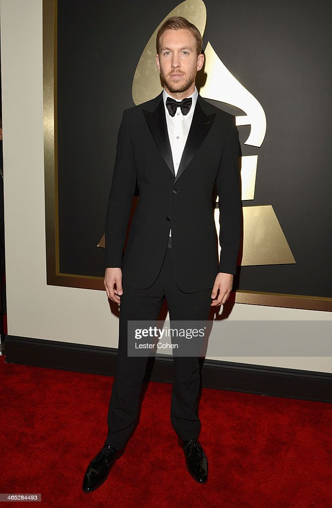 Recording artist Calvin Harris attends the 56th GRAMMY Awards at Staples Center on January 26, 2014 in Los Angeles, California.