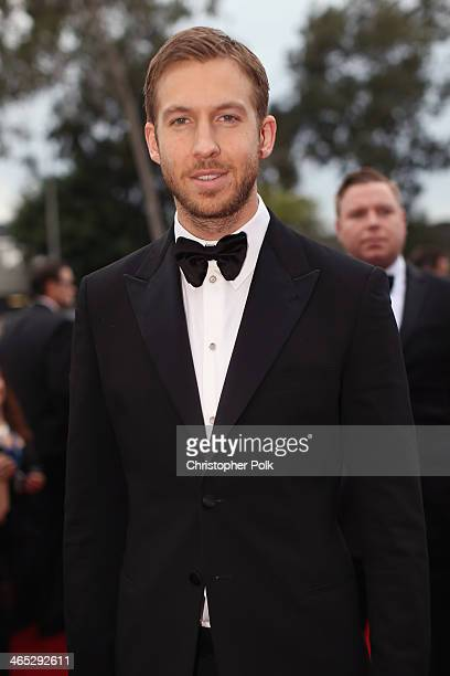 Recording artist Calvin Harris attends the 56th GRAMMY Awards at Staples Center on January 26 2014 in Los Angeles California