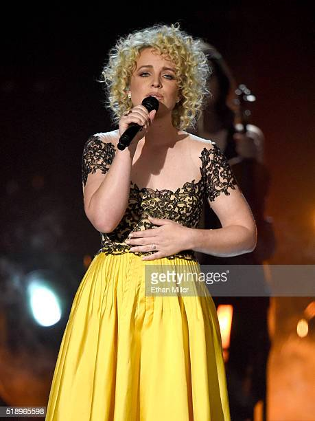Recording artist Cam performs onstage during the 51st Academy of Country Music Awards at MGM Grand Garden Arena on April 3 2016 in Las Vegas Nevada