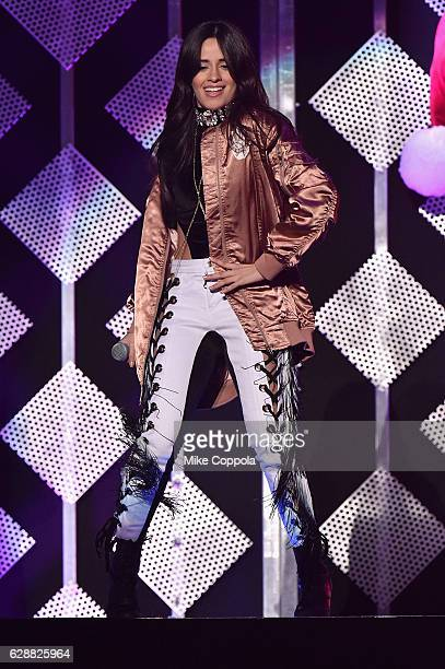 Recording artist Camila Cabello of Fifth Harmony performs onstage during Z100's Jingle Ball 2016 at Madison Square Garden on December 9 2016 in New...