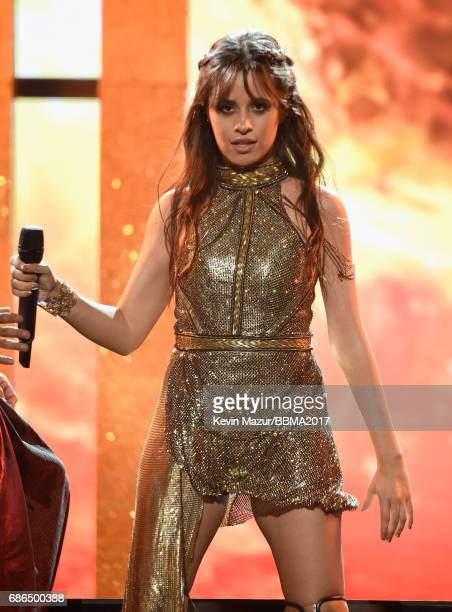 Recording artist Camila Cabello performs onstage during the 2017 Billboard Music Awards at TMobile Arena on May 21 2017 in Las Vegas Nevada