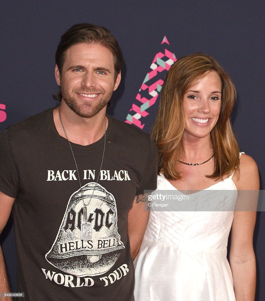 Recording artist Canaan Smith and Christy Hardesty attend the 2016 CMT Music awards at the Bridgestone Arena on June 8 2016 in Nashville Tennessee
