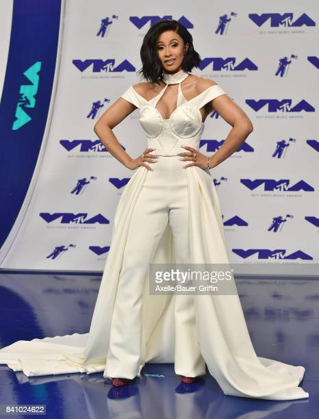 Recording artist Cardi B arrives at the 2017 MTV Video Music Awards at The Forum on August 27 2017 in Inglewood California