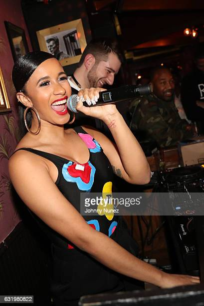 Recording artist Cardi B hosts her album listening party at Black Lodge on January 17 2017 in New York City