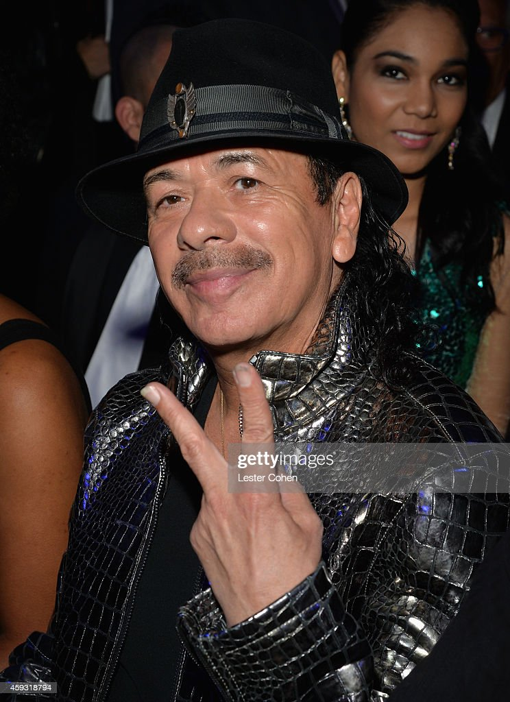 Recording artist <a gi-track='captionPersonalityLinkClicked' href=/galleries/search?phrase=Carlos+Santana+-+Musician&family=editorial&specificpeople=11497837 ng-click='$event.stopPropagation()'>Carlos Santana</a> attends the 15th annual Latin GRAMMY Awards at the MGM Grand Garden Arena on November 20, 2014 in Las Vegas, Nevada.