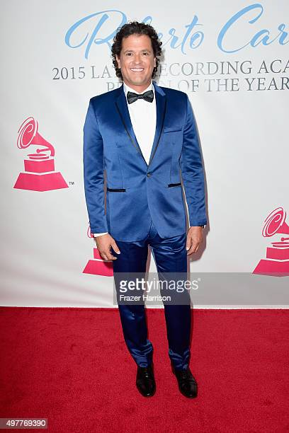 Recording artist Carlos Vives attends the 2015 Latin GRAMMY Person of the Year honoring Roberto Carlos at the Mandalay Bay Events Center on November...