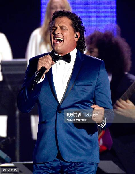 Recording artist Carlos Vives performs onstage during the 2015 Latin GRAMMY Person of the Year honoring Roberto Carlos at the Mandalay Bay Events...