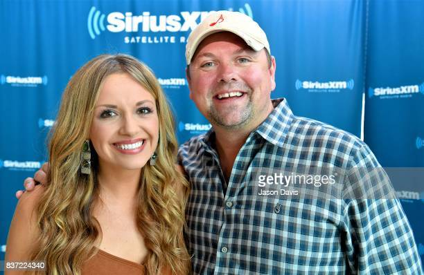 Recording Artist Carly Pearce and SiriusXM Host Storme Warren arrive at the SiriusXM Nashville Studios where Carly announced her debut album 'Every...