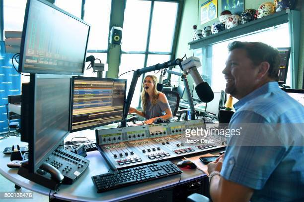 Recording Artist Carly Pearce visits SiriusXM Host Storme Warren at SiriusXM Studios on June 23 2017 in Nashville Tennessee
