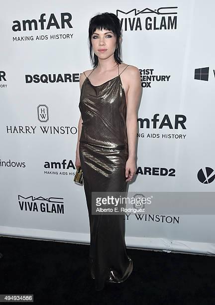 Recording artist Carly Rae Jepsen attends amfAR's Inspiration Gala Los Angeles at Milk Studios on October 29 2015 in Hollywood California