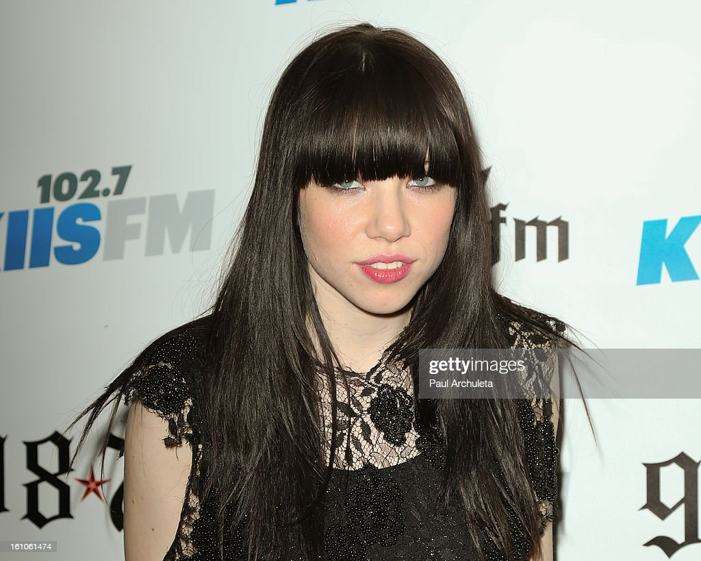Recording Artist <a gi-track='captionPersonalityLinkClicked' href=/galleries/search?phrase=Carly+Rae+Jepsen&family=editorial&specificpeople=6903584 ng-click='$event.stopPropagation()'>Carly Rae Jepsen</a> attends the 102.7 KIIS FM and 98.7 5th annual celebrity artist lounge celebrating the 55th Annual GRAMMYS at ESPN Zone At L.A. Live on February 8, 2013 in Los Angeles, California.