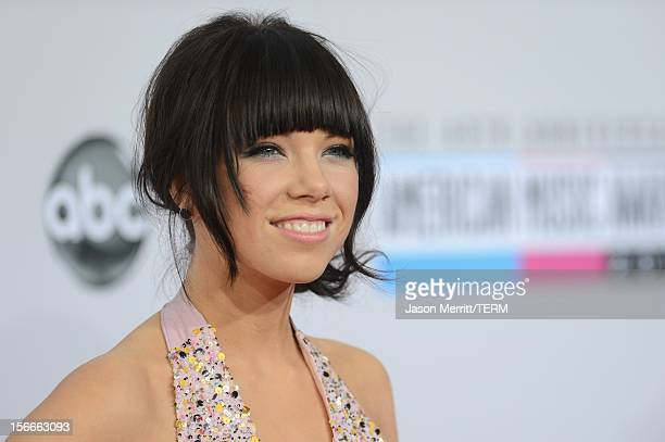 Recording artist Carly Rae Jepsen attends the 40th American Music Awards held at Nokia Theatre LA Live on November 18 2012 in Los Angeles California