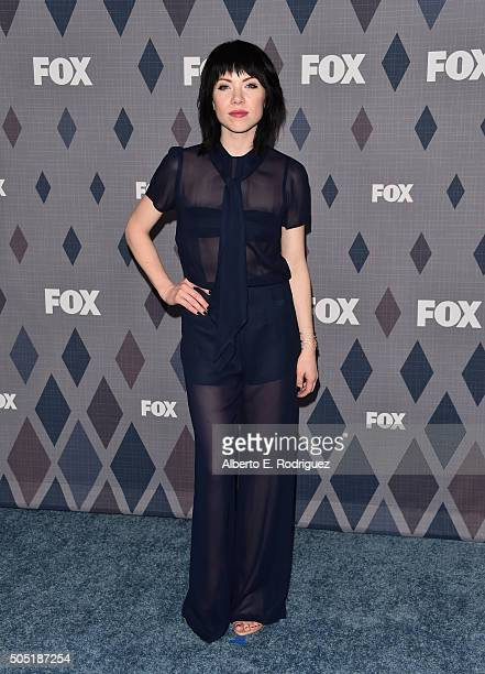 Recording artist Carly Rae Jepsen attends the FOX Winter TCA 2016 AllStar Party at The Langham Huntington Hotel and Spa on January 15 2016 in...