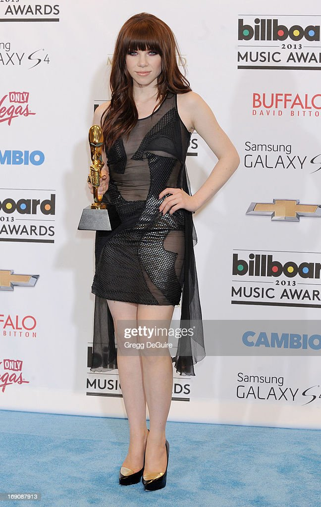 Recording artist Carly Rae Jepsen poses in the press room at the 2013 Billboard Music Awards at MGM Grand Garden Arena on May 19, 2013 in Las Vegas, Nevada.
