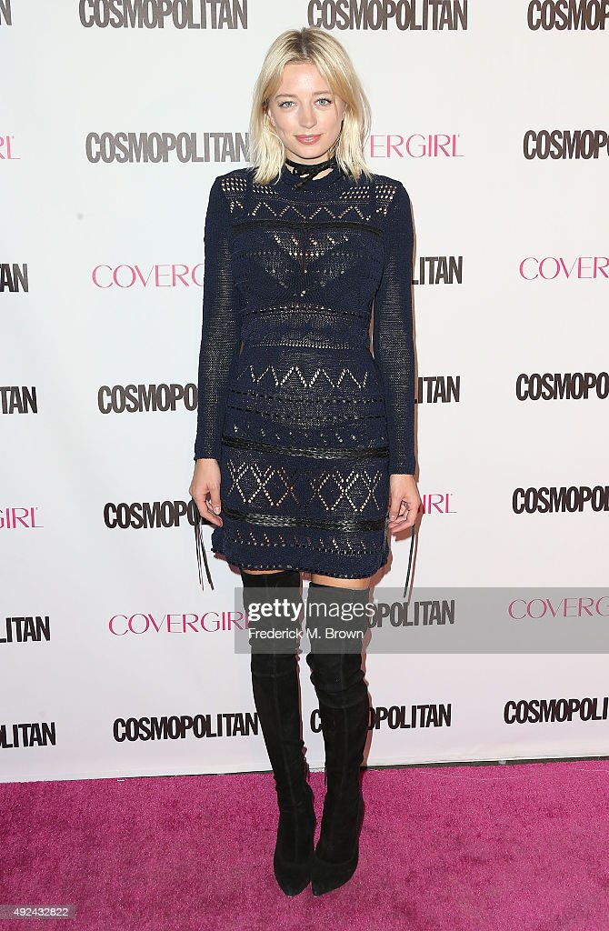 Recording artist Caroline Vreeland attends Cosmopolitan's 50th Birthday Celebration at Ysabel on October 12 2015 in West Hollywood California