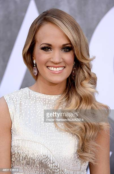 Recording artist Carrie Underwood attends the 49th Annual Academy of Country Music Awards at the MGM Grand Garden Arena on April 6 2014 in Las Vegas...
