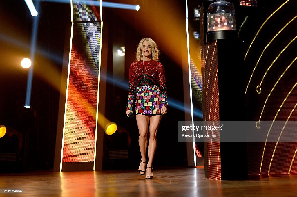 Recording artist Carrie Underwood onstage during the 2016 American Country Countdown Awards at The Forum on May 1, 2016 in Inglewood, California.