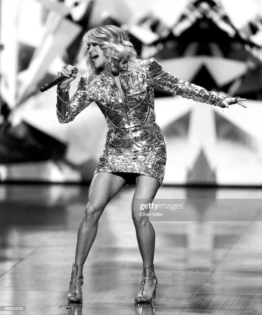Recording artist Carrie Underwood performs during the 52nd Academy of Country Music Awards at T-Mobile Arena on April 2, 2017 in Las Vegas, Nevada.