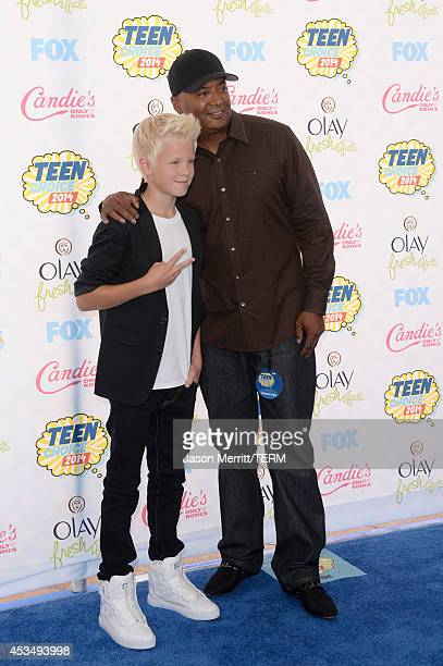 Recording artist Carson Lueders and manager Johnny Wright attend FOX's 2014 Teen Choice Awards at The Shrine Auditorium on August 10 2014 in Los...