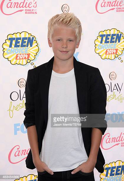 Recording artist Carson Lueders attends FOX's 2014 Teen Choice Awards at The Shrine Auditorium on August 10 2014 in Los Angeles California