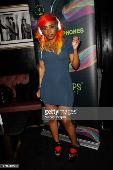 Recording artist Carter attends the Sean Kingston 'Back 2 Life' Listening Session Presented By Flips Audio at Bootsy Bellows on August 27 2013 in...