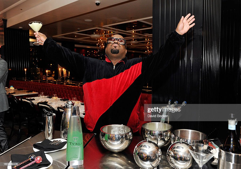Recording artist CeeLo Green celebrates at his Loberace grand opening after party at the Sugar Factory American Brasserie at the Paris Las Vegas on February 27, 2013 in Las Vegas, Nevada.