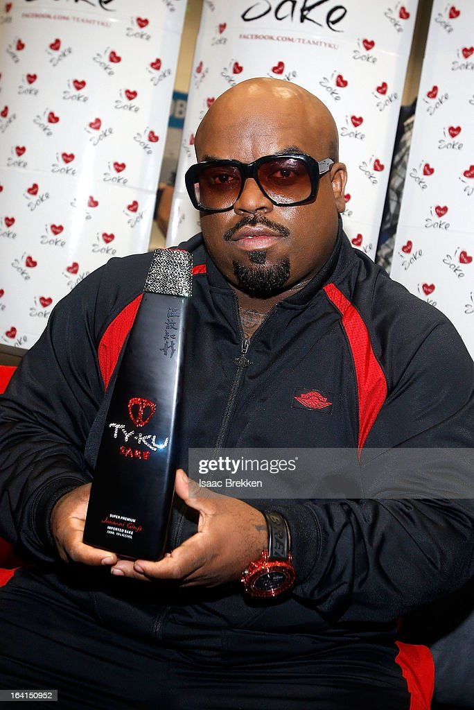 Recording artist CeeLo Green poses at the Ty Ku Sake & Spirits booth during the 28th annual Nightclub & Bar Convention and Trade Show at the Las Vegas Convention Center on March 20th, 2013 in Las Vegas, Nevada.