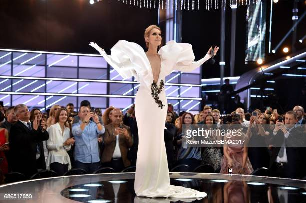 Recording artist Celine Dion performs onstage during the 2017 Billboard Music Awards at TMobile Arena on May 21 2017 in Las Vegas Nevada