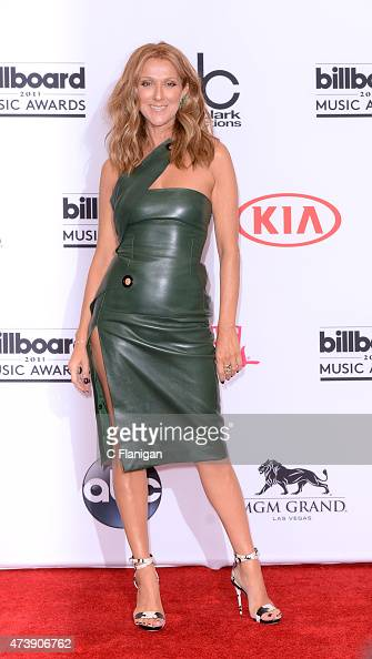 Recording artist Celine Dion poses in the press room during the 2015 Billboard Music Awards at MGM Grand Garden Arena on May 17 2015 in Las Vegas...