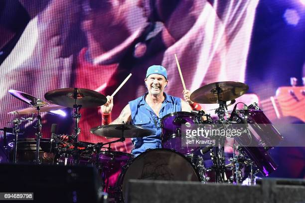 Recording artist Chad Smith of Red Hot Chili Peppers performs onstage at What Stage during Day 3 of the 2017 Bonnaroo Arts And Music Festival on June...