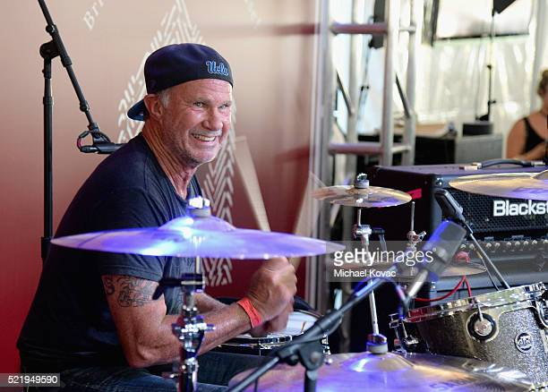 Recording artist Chad Smith performs onstage during the John Varvatos 13th Annual Stuart House benefit presented by Chrysler with Kids' Tent by...
