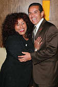 Recording artist Chaka Khan and Los Angeles Mayor Antonio Villaraigosa attend the AIDS Research Alliance press conference at the JW Marriott Los...