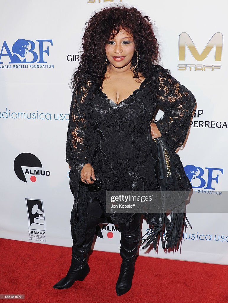 Recording artist Chaka Khan arrives at the Andrea Bocelli Foundation's 2011 Benefit Gala at The Beverly Hilton hotel on December 9 2011 in Beverly...