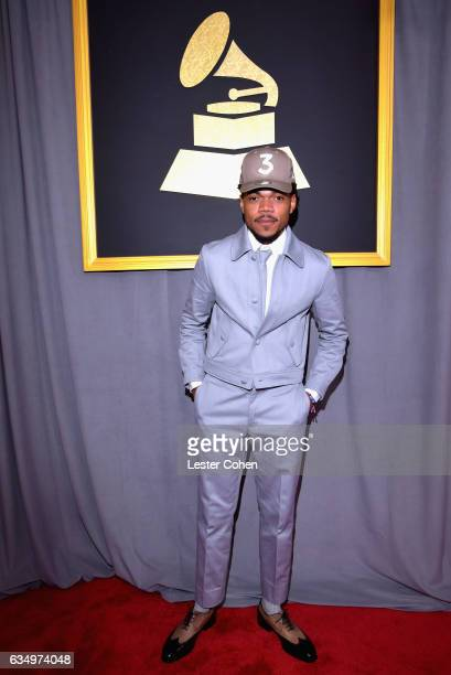Recording artist Chance The Rapper attends The 59th GRAMMY Awards at STAPLES Center on February 12 2017 in Los Angeles California